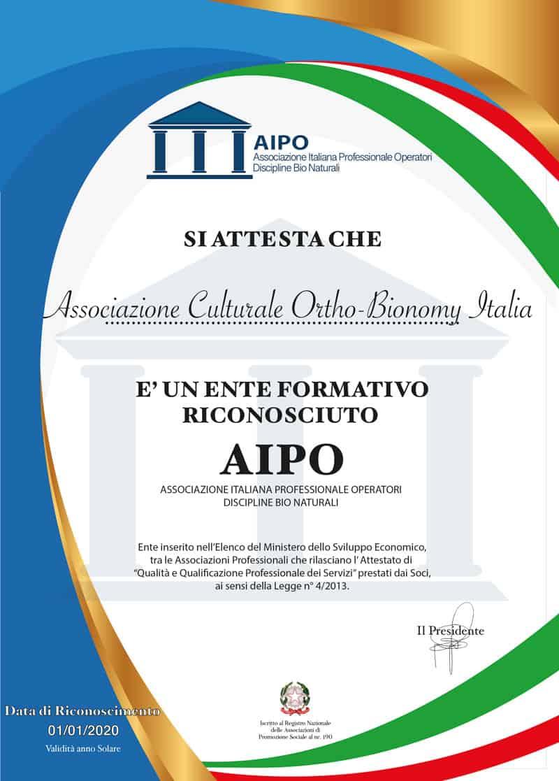certificazione aipo